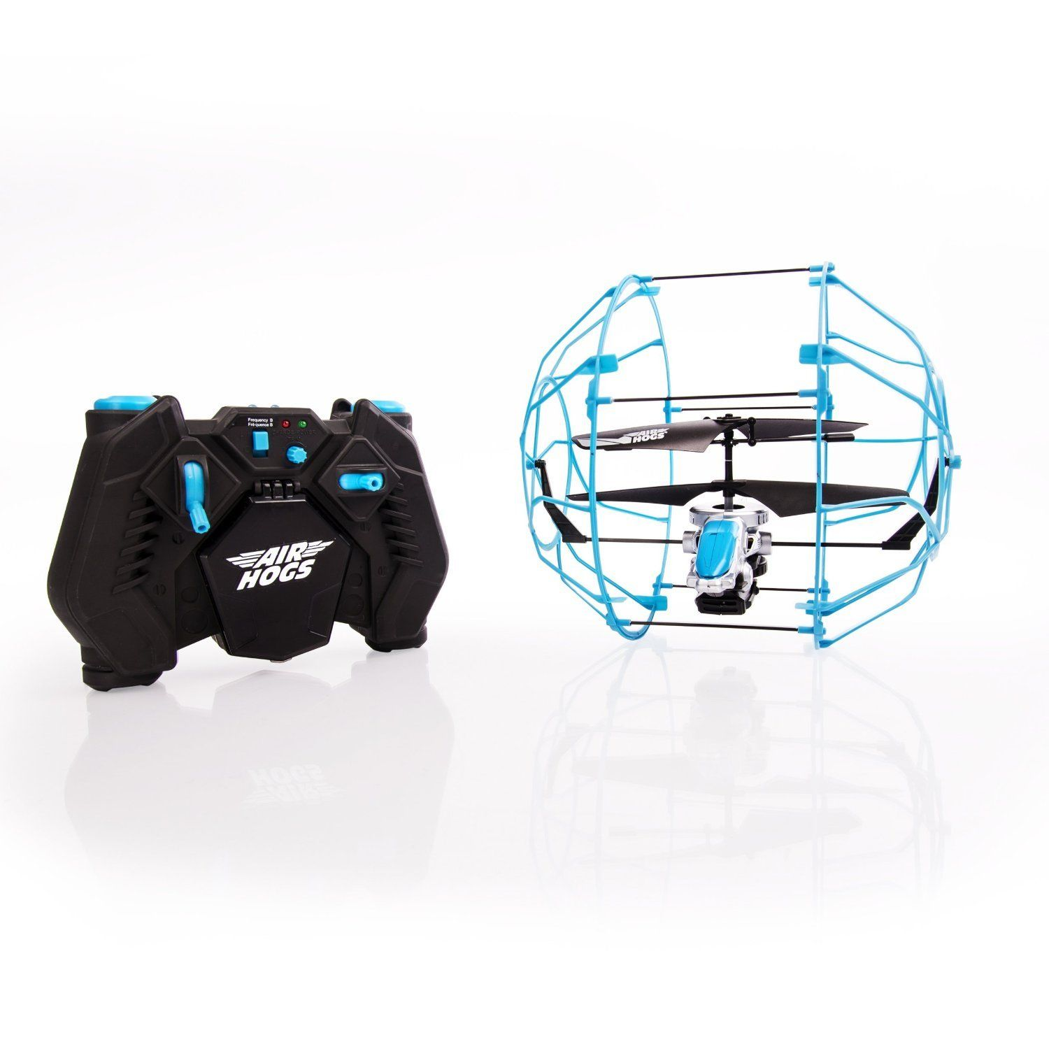 Walmart Helicopter Toys For Boys : Air hogs rc roller copter blue black